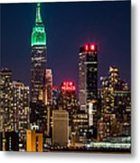 Empire State Building On Saint Patrick's Day Metal Print