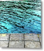 Empty Pier And River Water Metal Print