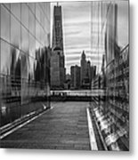 Empty Sky Memorial And The Freedom Tower Metal Print