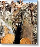 Environmental Destruction In Construction  Metal Print