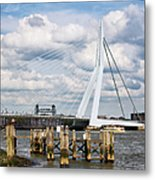 Erasmus Bridge In Rotterdam Metal Print