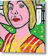 Erika Hides Behind Her Fancy Fence Rich Off My Circle Of Life Idea Metal Print by Joe Dillon