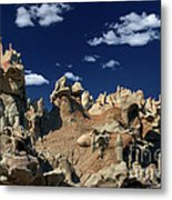 Eroded Sandstone Formations Fantasy Canyon Utah Metal Print