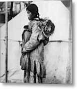 Eskimo Woman And Child Metal Print