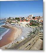 Estoril Beach In Portugal Metal Print