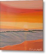Evening At Mission Beach Metal Print