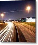 Evening Traffic On Highway Metal Print