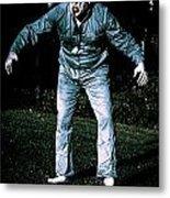 Evil Dead Horror Zombie Walking Undead In Cemetery Metal Print