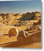 Expressive Landscape With Mountains In Egyptian Desert  Metal Print