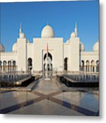 Exterior View Of Sheikh Zayed Grand Metal Print