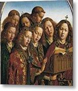 Eyck, Jan Van 1390-1441 Eyck, Hubert Metal Print by Everett
