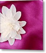 Fabric Flower Metal Print