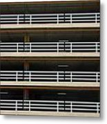 Facade Of Parking Building In Thailand Metal Print