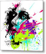 Face Paint 2 Metal Print
