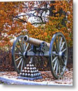 Facing Pickettes Charge Metal Print