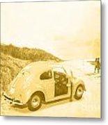 Faded Film Surfing Memories Metal Print