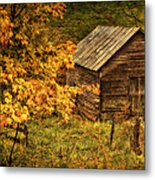 Fall At The Farm Metal Print
