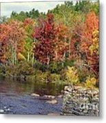 Fall At The River Metal Print