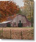 Fall Barn Metal Print
