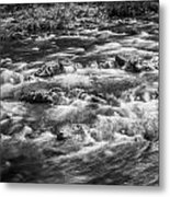 Fall Colors Stream Great Smoky Mountains Painted Bw Metal Print