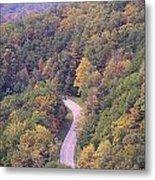 Fall Drive In The Smokies Metal Print