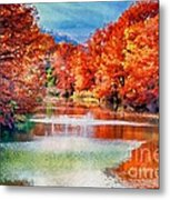Fall On The Guadalupe Wc Metal Print