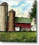 Family Farm Metal Print