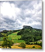famous Bismantova rock in the north of Italy Metal Print