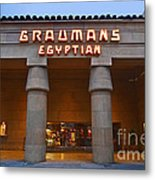 Famous Egyptian Theater In Hollywood California. Metal Print