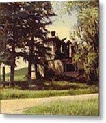 Farmhouse Landscape Metal Print