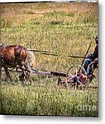 Farming With Horses Metal Print