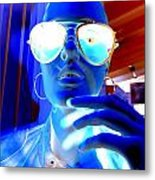 Feelin Blue Metal Print