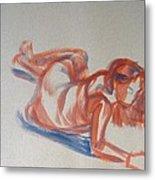 Female Figure Painting Metal Print