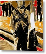 Female Soldier With Mexican Flag  Unknown Location C. 1914-2014 Metal Print