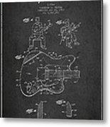Fender Guitar Patent Drawing From 1960 Metal Print