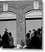 Fenway Park - Fans And Locked Gate Metal Print