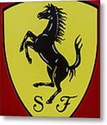 Ferrari Emblem Metal Print