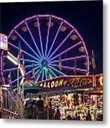 Ferris Wheel Rides And Games Metal Print