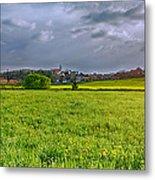 Fields Of Rapeseed In Lower Silesia Metal Print