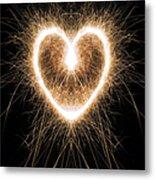 Fiery Heart Metal Print