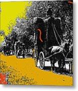Film Homage Haskell Wexler Days Of Heaven Hay Wagons 1878-2008 Metal Print