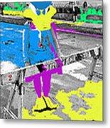 Film Homage Howard The Duck '86 Cowboy Duck Collage La Fiesta De Los Vaqueros Rodeo Tucson '85-'09 Metal Print
