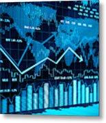 Financial charts Metal Print
