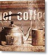 Fine Art Coffee Shop Tin Sign Insignia Metal Print