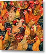 Fine Fowl Metal Print