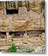 Fire Temple On Chapin Mesa Top Loop Road In Mesa Verde National Park-colorado  Metal Print