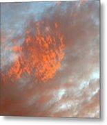 Fireball In The Sky Metal Print