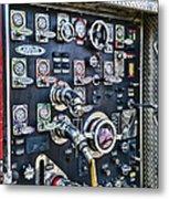 Fireman Control Panel Metal Print