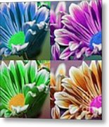 Firmenish Bicolor Pop Art Shades Metal Print