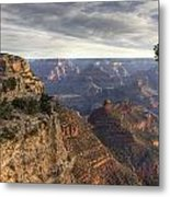 First Light At The Canyon Metal Print